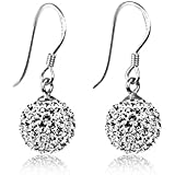 925 Sterling Silver Earrings - Cubic Zirconia 8 Carat Total Hook Earrings