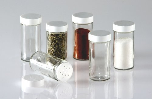 Glass Spice Jars- Set of Six Glass Spice Bottles (Small Spice Bottles compare prices)