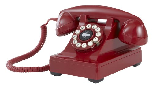Crosley CR60-RE Kettle Desk Phone with Push Button Technology (Red)