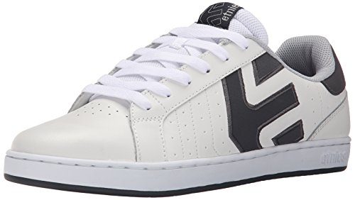 Etnies Men's Fader LS Skateboarding Shoe, White/Grey/Grey, 9 M US