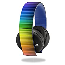 buy Mightyskins Protective Vinyl Skin Decal Cover For Sony Ps4 Gold Wireless Headset Headphones Sticker Skins Rainbow Streaks
