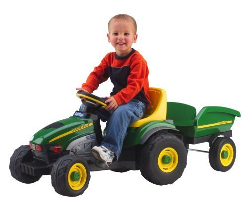 Peg Perego John Deere Farm Tractor And Trailer By Peg Perego Usa front-346311