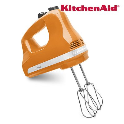 Ultra Power Series 5-Speed Slide Control Hand Mixer Color: Tangerine