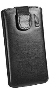 mumbi ECHT Ledertasche Samsung Galaxy S3 mini Tasche (Lasche mit Rückzugfunktion) schwarz