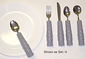 Weighted Utensils Set 3 Teaspoon Fork Knife - 10665e from Complete Medical