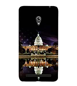 WHITE HOUSE VINTAGE NIGHT VIEW 3D Hard Polycarbonate Designer Back Case Cover for Asus Zenfone 6 A601CG :: Asus Zenfone 6 A600CG