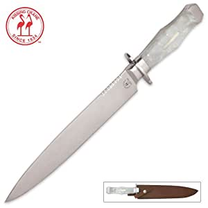 Kissing Crane Pearl Bowie Knife
