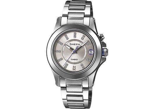 Casio  0 - Reloj de cuarzo para mujer, con correa de acero inoxidable, color plateado