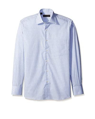 Kenneth Gordon Men's Multi Check Spread Collar Sportshirt
