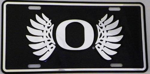 Oregon Ducks License Plate (Black Wings)