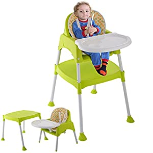 3 in 1 Baby High Chair Convertible Table Seat Booster Toddler Feeding Highchair from Unbranded