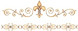 Delta Creative Stencil Magic Decorative Stencils, 8 by 18-Inch, 95671 Elegant Fleur De Lis
