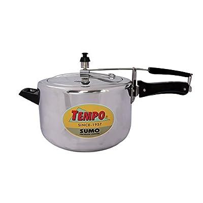 TP0210 Premium SUMO Inner Lid White Aluminium Pressure Cooker 8 Litres
