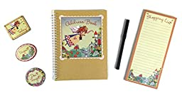 New Seasons Country Fairy Wipe-Off Address Book Set (no cleaning spray)
