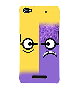 printtech Cartoon Glasses Pattern Back Case Cover for  Micromax Canvas Hue 2 A316
