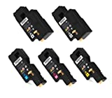 Compatible Toner Cartridges for Xerox Phaser 6000, 6010, Workcentre 6015 – 5pk (2BK + CMY)