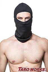 [TARO WORKS] Balaclava Powersports Riding Headwear 吸汗 速乾 「CooL メッシュ」 フェイスマスク (ブラック)
