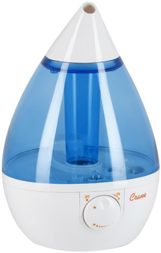 Crane Drop Shape Ultrasonic Cool Mist Humidifier with 2.3 Gallon output per day - 1