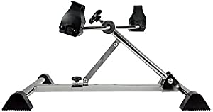 Isokinetics Inc. Folding, Adjustable Pedal Exerciser - With Free Heart Rate Monitor Watch - Ideal for Leg or Arm Exercise
