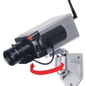 kabellose kamera attrappe berwachungskamera attrappe mit. Black Bedroom Furniture Sets. Home Design Ideas