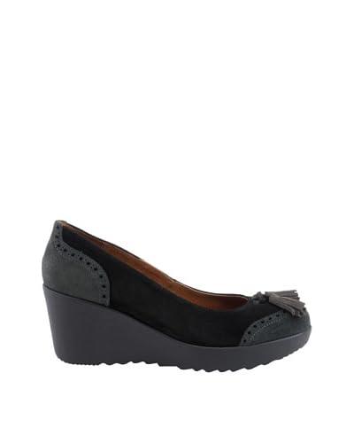 Liberitae Zapatos tacón Borlas Gris / Negro