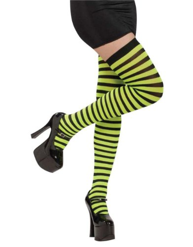 Rubie's Costume Co Gn/Bk Striped Thigh Highs Costume