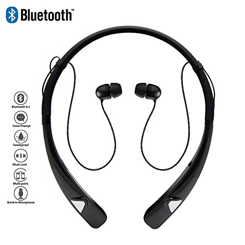 Bluetooth-Headphones-HV-980-Wireless-Neckband-Headset-Hands-Free-Stereo-Earphones-with-Magnet-Earbuds-MicSweatproof-Earbuds-with-Noise-Canceling-for-ipadiPhoneSamsung-and-Android
