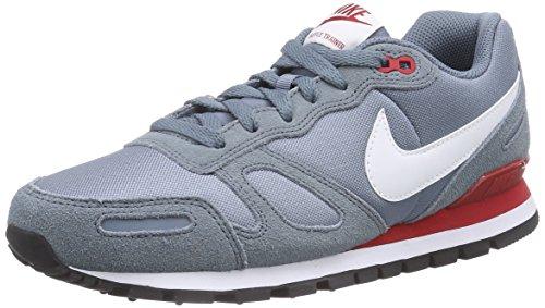 Nike Air Waffle Trainer, Herren Laufschuhe, Grau (Blue Graphite/White-Gym Red 407), 47.5 EU