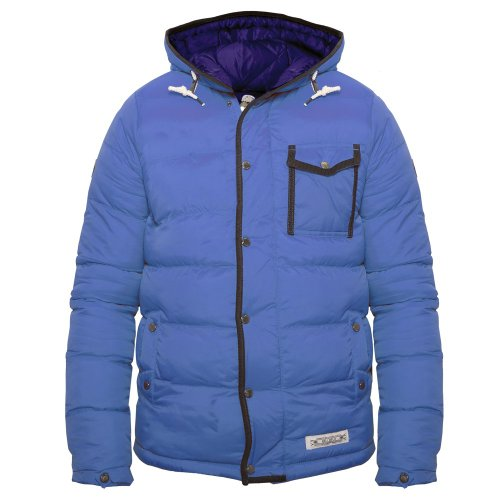 Bellfield Mens Blue Bubble Padded Designer Jacket Shibuya s,m,l,xl,xxl bnwt Blue X-Large