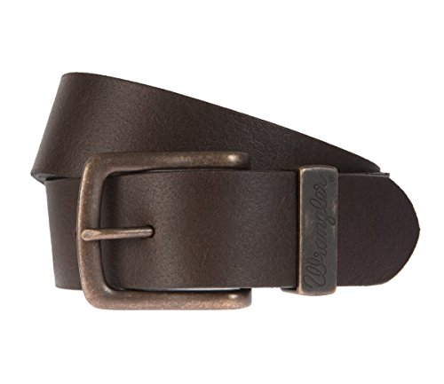 Wrangler - Uomo Cintura, Cintura in pelle marrone, Länge:100 cm;Farbe:braun