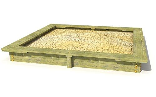 Sandkasten Kiefer 3x3 m mit Sitzflächen