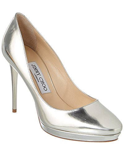 Jimmy Choo Hope 100 Mirror Leather Platform Pump, 38.5