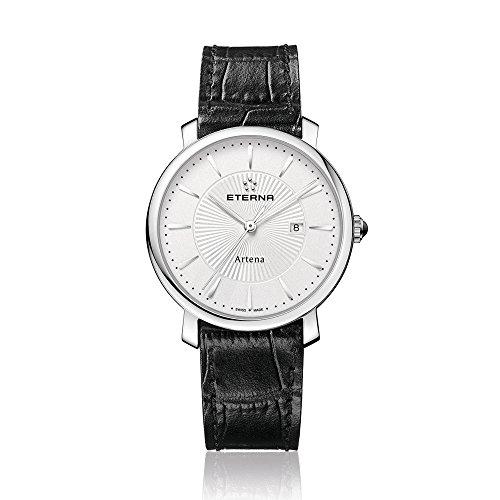 Eterna 2510.41.11.1251 - Reloj de pulsera mujer, piel, color negro