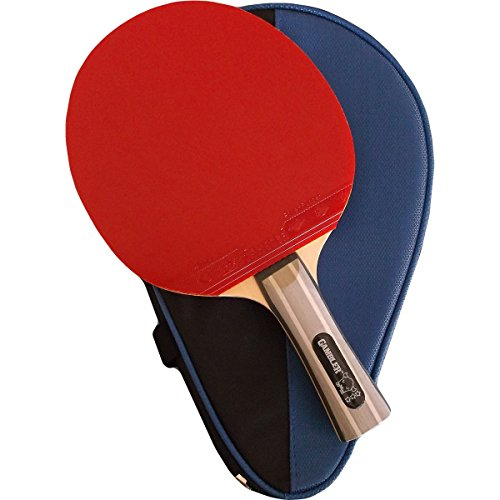 Custom Professional Table Tennis Paddle with Gambler Double Carbon Blade and Gambler Four Kings Rubber plus Case