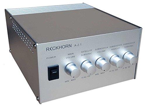 Reckhorn-A-21-silberfarben-3-Kanal-Stereo-Verstrker-mit-Mono-Subwoofer-Endstufe-und-Aktivweiche