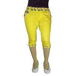 Anjan Fashion Capri For Girl's_ANJ3131CP20_Yellow_38