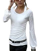 DJT T-Shirt Japon Style Fantaisie Blouse Manches Lanterne - Femme