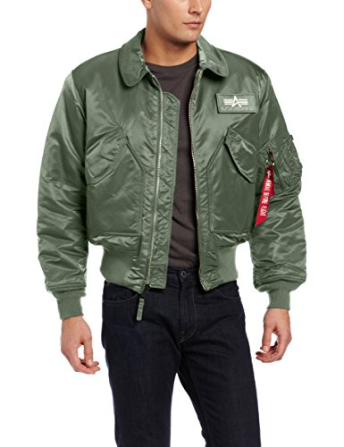 Alpha Industries Men`s CWU 45/P Flight Jacket, Sage Green, Medium