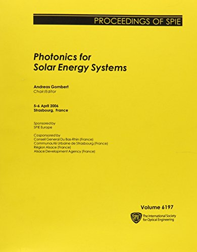 Photonics for Solar Energy Systems (Proceedings of SPIE)