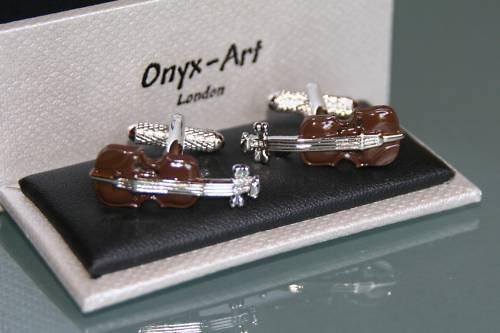 Manschettenknpfe-Design-Geige
