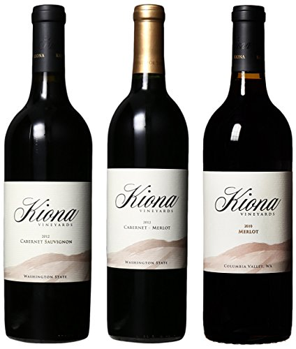 Kiona Vineyards And Winery Top Washington Reds Mixed Pack, 3 X 750 Ml