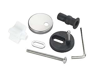 Wenko 290221100 Système de fixation pour lunette de WC avec système de fermeture automatique En acier inoxydable