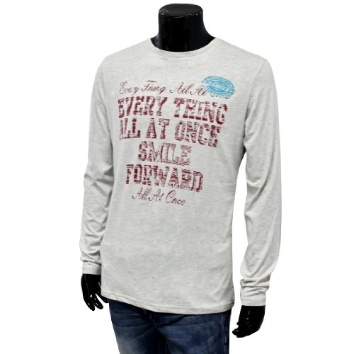 Mens Stylish Embellished Letters Deign Long Sleeve Pullover Casual Tops