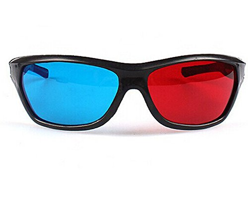 Black Frame Red Blue 3D Glasses For Dimensional Anaglyph Mov