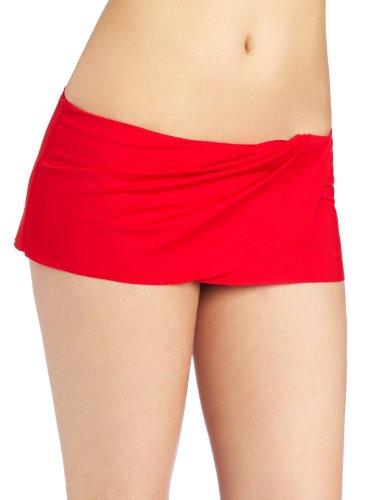 La Blanca Women's Samba Solids Tulip Skirted Hipster, Lipstick, 10