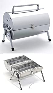 Portable Oil Drum Style BBQ