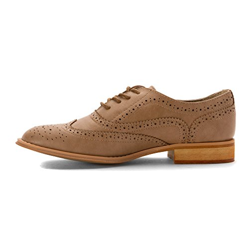Wanted Shoes Womens Babe Oxford, Taupe, 9 M US