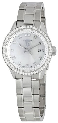 TAG Heuer Women's WV1413.BA0793 Carrera Diamond Bezel Watch