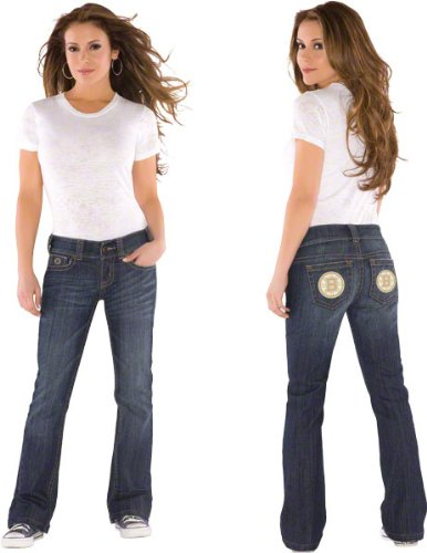 Boston Bruins Women's Denim Jeans - by Alyssa Milano at Amazon.com