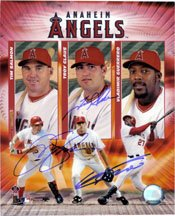 Signed Angels, Anaheim (Tim Salmon, Troy Glaus, Vladimir Guerrero) 8x10 By Tim... by Powers+Collectibles